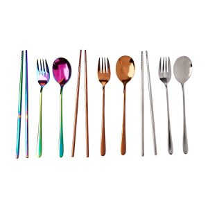 Stainless Steel Multi Color Cutlery Set