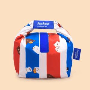 Pockeat Food Bag | Bear In Hong Kong 白白紅白藍