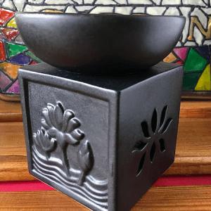 Black Stoneware Warmer