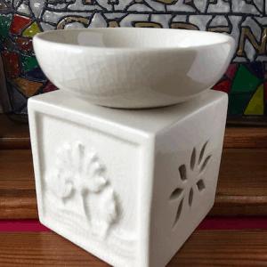 White Stoneware Warmer