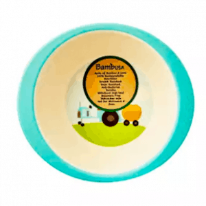 BambUSA Oval Kids Bowl (Tractor)