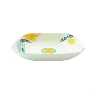 BambUSA 8 Inch Deep Plate (Tropical)