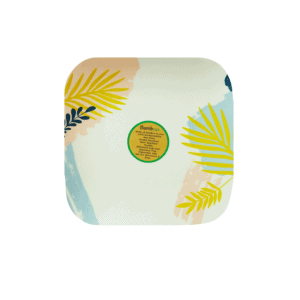 BambUSA 8 Inch Square Plate (Tropical)