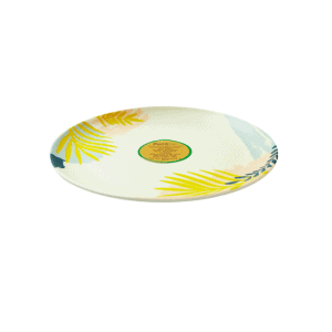 BambUSA 8 Inch Round Plate (Tropical)