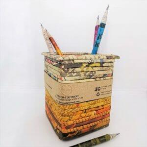 Newspaper Pen Stand
